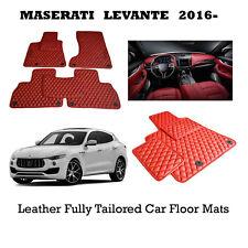 Luxury Bespoke Leather Car Floor Mats Fully Tailored fit Maserati Levante 2016-