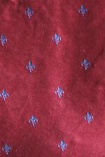 CHARLES TYRWHITT SILK TIE BURGUNDY & BLUE FLUER DI LIS A WEDDING STUNNER BNWT
