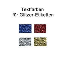 100  Namensbänder mit Ihrem Text, Textiletiketten zum Aufbügeln, glitzernd