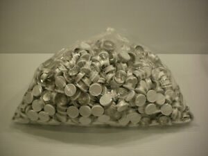 Large 1000 Pc. Lot 20mm Flip Top Cap Aluminum Crimp Seal for Serum Vials White