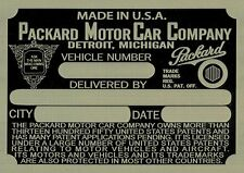 Packard Data Plate Brass 1936 (I have all plates from 1926-1952)