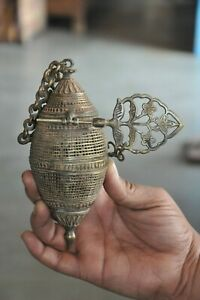 Old Brass Unique Jali Cut Engraved Handcrafted Room Freshener Box