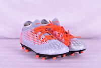 Youth Boy's Puma Future 4.4 FG Soccer Cleats, Glacial Grey /Energy Red
