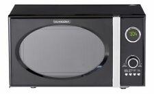 Schneider Mikrowelle schwarz Retro 800W Grill 1000W 23 Liter Chrom Shabby Chic