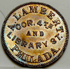 "Philadelphia, PA750N-1a (R-4+) Lambert ""Oyster Saloon"" Lovely UNC Tough Merchant"