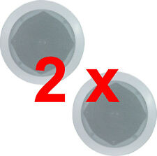"""Pair White 100w 6.5"""" 8Ohms Quality Ceiling Roof Wall Speakers"""
