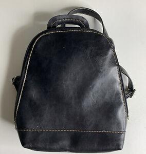 Unbranded Faux Leather Back Pack Travel Bag Purse Black