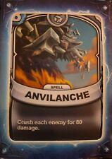 Skylanders Battlecast Collector's Card Spell Anvilanche