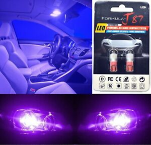 LED 5050 Light Purple 12000K 194 Two Bulbs Rear Side Marker Parking Replacement