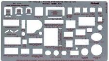 """Template FURNITURE INDICATOR - 1/4"""" Scale, New, Free Shipping"""