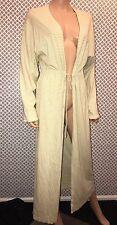 Garnet Hill Sleepwear Collection Luxurious 100% Cotton Robe Sz Medium