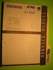 Aiwa av-x300 service manual original repair book stereo receiver cd player