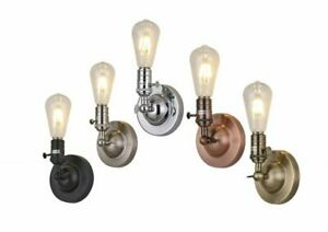 Industrial Vintage Wall Lights Metal Plated Sconce Adjustable Design 5 Finishes