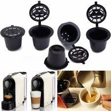 5x Refillable Reusable Coffee Capsules Pod For Nespresso Stainless Steel Filter