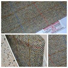 HARRIS TWEED FABRIC & LABELS Tartan 100% wool upholstery craft tailoring lot