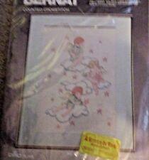 "Vintage Bernat Counted Crosstitch Kit ""Childhood Dreams"" DMC Floss NEW!"