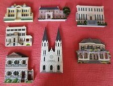 Collectable 3D wood houses by Shella's collections7 pieces