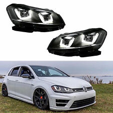 Headlights lamps Led DRL For VW 2008-2014 Volkswagen Golf MK6 GTI Assembly