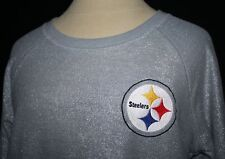 PINK VICTORIA'S SECRET Pittsburgh Steelers Silver Sweatshirt Top LOGO SMALL 4 6