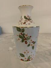 Beautiful New Wedgwood Wild Strawberry Vase