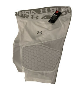 NWT Under Armour Game Day Armour 3-Pad Basketball Shorts XXL White MSRP$65