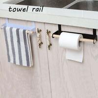 Towel Holder Toilet Paper Shelf Door Back Storage Racks Metal Hook Wall Hanging