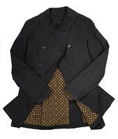 Authentic LOUIS VUITTON Monogram Lining Trench Coat Black Size 36 Rank B