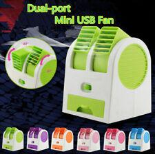 Mini Fan Car Auto Air Freshener Vent Cooling Fan Cooler Radiator Bladeless Fan