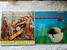 Hylo Brown Meets Lonesome Pine Fiddlers & Sings Bluegrass W/5 String Banjo 2 Lps