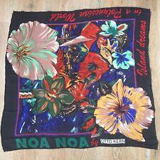 """Scarf vintage NOA NOA by OTTO KERN hand Rolled chiffon Silk 94cm*94cm (37"""" *37"""")"""