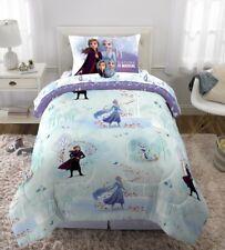 Frozen 2 Anna Elsa 6 Piece Twin Bed In A Bag Comforter Sheet Set Pillow Tote New