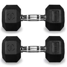 Hex Dumbbells Hexagonal Rubber Encased Ergo Weights Sets Gym Set Fitness Weight