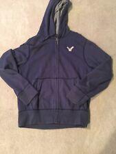 American Eagle Navy Blue Hoodie Jacket Size L