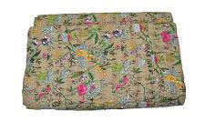 queen cotton blanket handmade queen kantha bedspread indian bedcover sofa throw