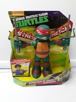 "Teenage Mutant Ninja Turtles Raphael Stretch N Shout 9"" Figure Toy NEW"