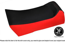 BLACK & BRIGHT RED VINYL CUSTOM FITS YAMAHA PHAZER 84-89 SEAT COVER ONLY