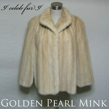 #EXCELLENT QUALITY# Genuine Golden Pearl Mink Cape/Poncho  [63i33ce]