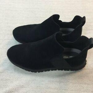 COLE HAAN ZEROGRAND Black Suede Slip on Booties. Elastic sides. Size 7.5
