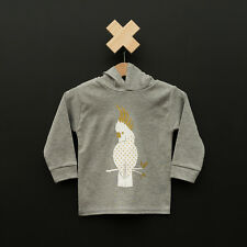 BNWT Liberty Kids Unisex Gold Cockatoo Hoodie (000,00,0)