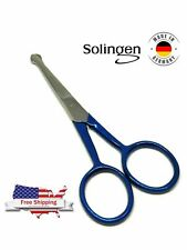 HETZER SOLINGEN STRAIGHT NAIL SCISSORS SAFETY ROUNDED TIP PROFESSIONAL CUTTER