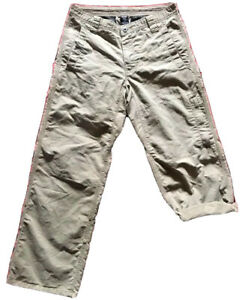 """prAna Hiking Roll-Up Snap Convertible Cargo Pants Gusseted Crotch Size 30""""W 29""""L"""