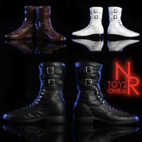 NRtoys 1/6 Scale Male Combat Boots Shoes Model Toy Fit 12'' Solider Figure Body