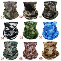 Seamless Face Tube Mask Tactical Camo Camouflage Bandana Headwear Scarf Outdoor