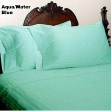 Aqua Striped RV Camper & Bunk Sheet Set All Sizes 1000 TC Egyptian Cotton