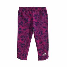 BRAND NEW! Baby Girl ADIDAS Floral Paisley Leggings Pink Purple 12 Month Size