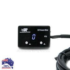 Digital Oil Pressure Gauge BLUE LED Universal Fit N/A Turbo / Supercharger Kit