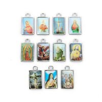 20Pcs Wholesale Catholic Religious Enamel Medals Charms Pendants Holy Cross 29mm