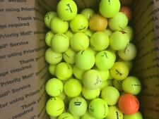 100 AAAAA MINT and AAA Yellow Orange Mixed  Used Golf Balls!