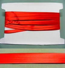 Bias Binding  Satin  Red  13mm wide 15 meters