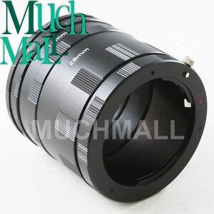 Macro Lens Extension 3 Ring Tube For Pentax K PK Mount Camera K10D K-7 5 X r 01